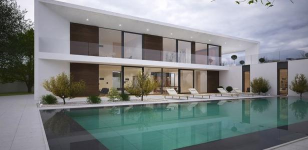 Magnifique villa contemporaine avec grande piscine au Kazakhstan ...
