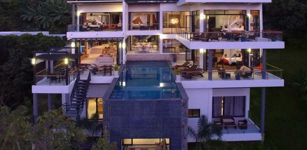 Magnifique villa contemporaine de luxe avec piscine en hauteur en tha lande construire tendance for Maison moderne de luxe avec piscine