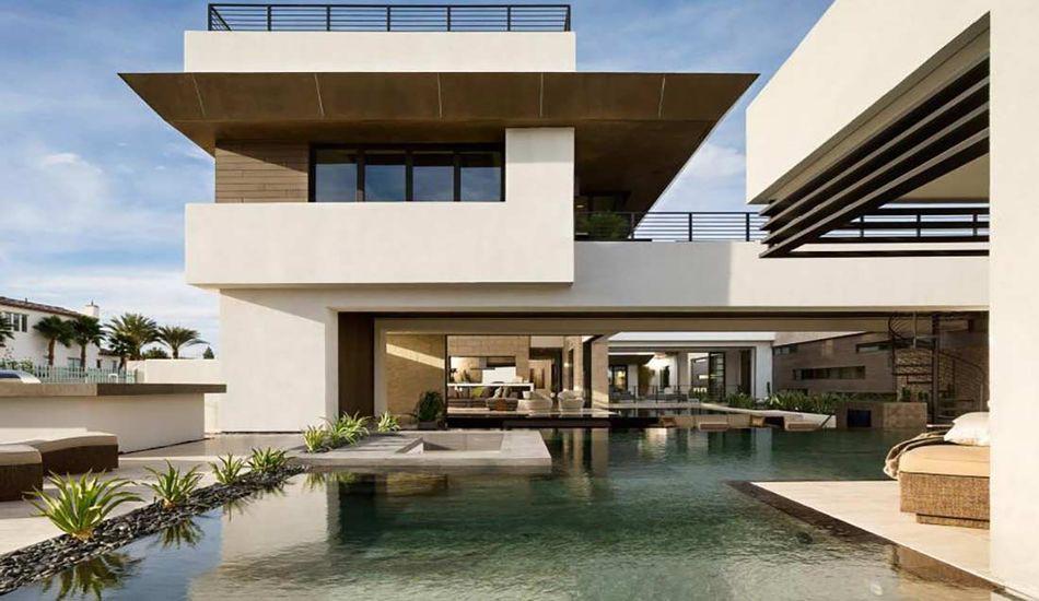 Superbe Villa Contemporaine De Luxe Avec Vaste Piscine Aux Usa