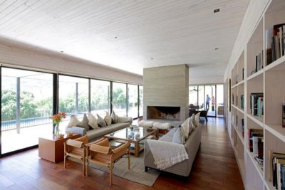 salon design & bibliothèque - house-10-10-10 par Gonzalo Mardones Vivian, Valparaiso, Chili