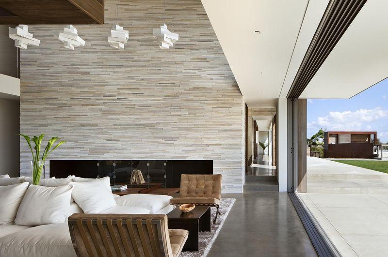salon rez de chaussée & baie vitrée - sagaponack par Bates Masi Architects - Sagaponack, USA