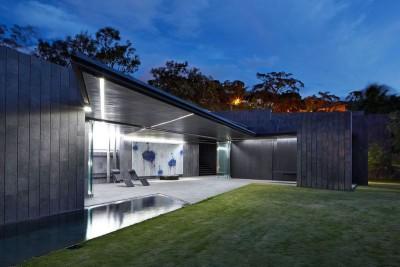 salon terrasse design nuit - casa-altamira par Joan Puigcorbé - Ciudadd Colon, Costa Rica