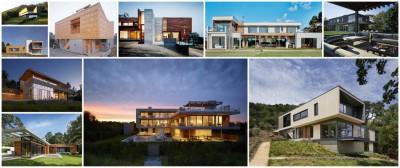 10 maisons contemporaine bois et béton