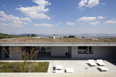 bain de soleil façade terrasse - Residenza Privata par Osa Architettura - Basilicata, Italie