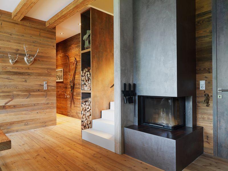 cheminée design - Mountain-View House par SoNo arhitekti - Kitzbuehel, Slovénie