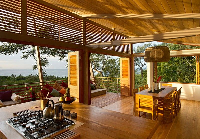 cusine & séjour - Holiday House par Benjamin Garcia Saxe - Costa Rica
