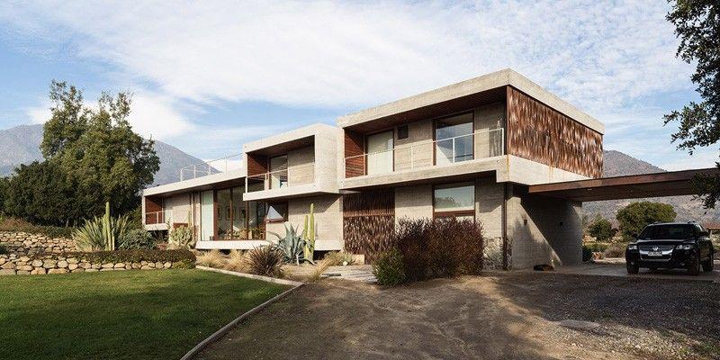 Magnifique maison contemporaine en b ton avec piscine for Garage cda chilly