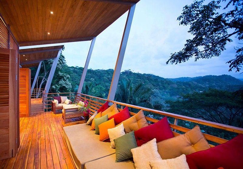 mobilier balcon - Holiday House par Benjamin Garcia Saxe - Costa Rica