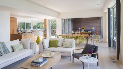 pièce de vie - Westport River House par Ruhl Walker Architects - Massachusetts, USA