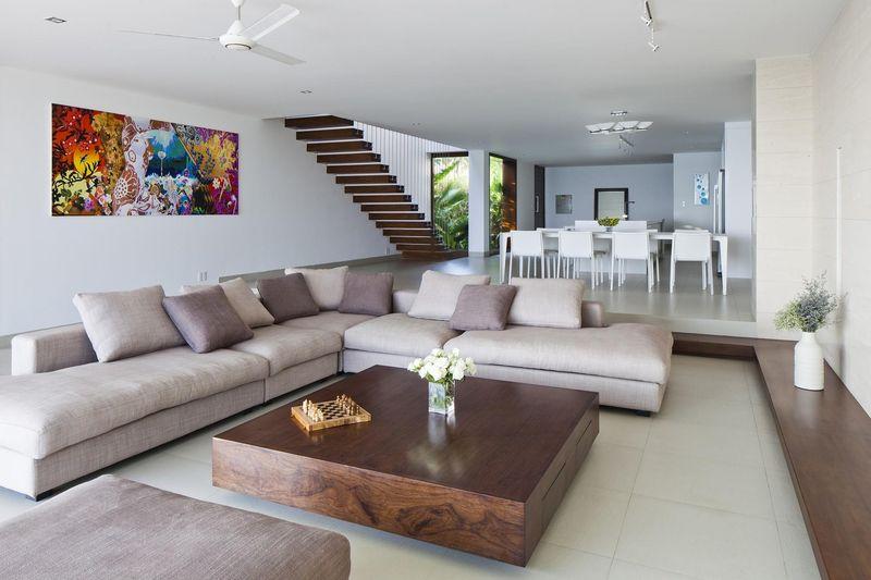 pièce de vie - sofka par MM++ Architects - Phan Thiet, Vietnam