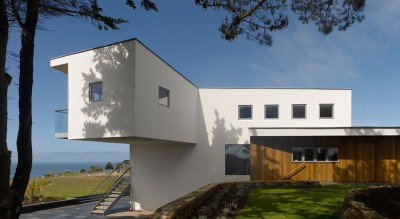 porte à faux - Jersey House par Hudson Architects - Normandie, France