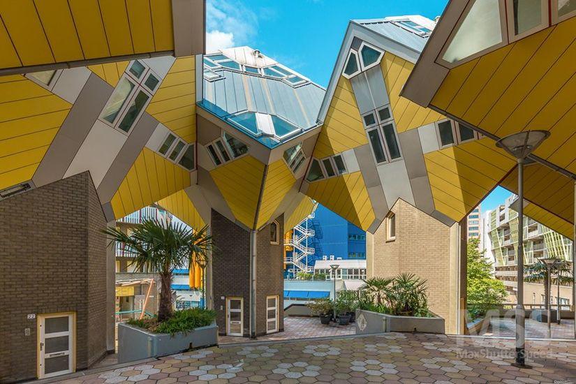 Maisons Urbaines Contemporaines En Forme De Cube à Rotterdam