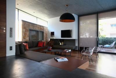 salon & coin TV - A&A-House par WoArchitects - Athènes, Grèce