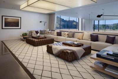 salon tapissé - modern farmhouse par Meyer Davis studio - Nashville, USA