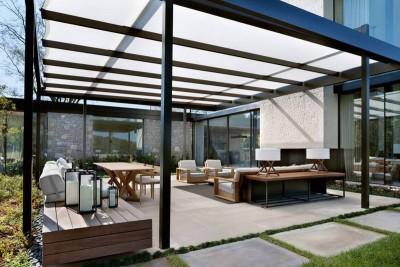 salon terrasse design - modern farmhouse par Meyer Davis studio - Nashville, USA