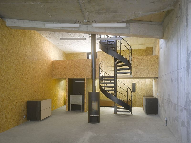 cheminée & escalier design - Saint-Ange-Residency par Studio Odile Decq - Seyssins, France