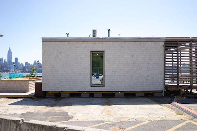 façade nord - Sure house par Institut de Technologie de Stevens, Usa