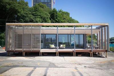 façade terrasse - Sure house par Institut de Technologie de Stevens, Usa
