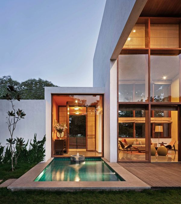 piscine - L-Plan-House Klosla Associates - Bangalore, Inde