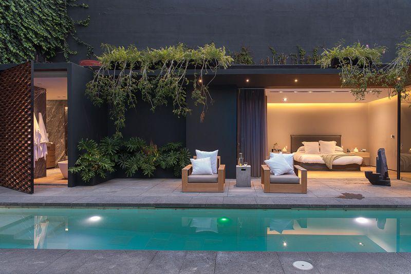 piscine & façade terrasse - Barrancas House par Ezequielfarca Architecture & Design - Mexico, Mexique