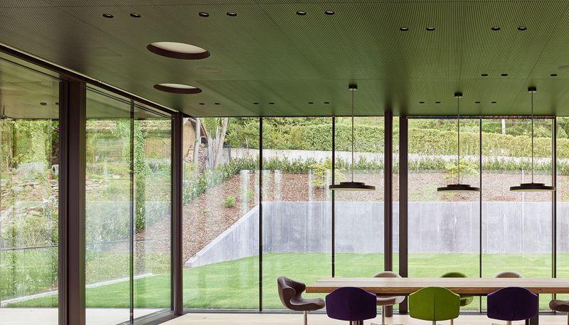 séjour & grande baie vitrée - House-GT par Archinauten - Linz, Autriche