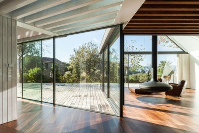 salon & cheminée design - House-four-houses par Prod Architecture - Penafiel, Portugal