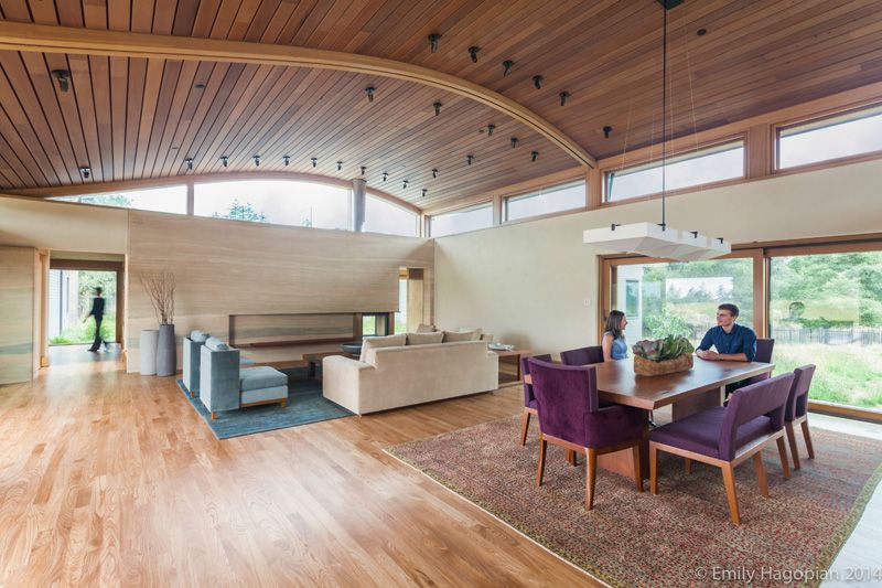 salon & séjour - Farm-House par William McDonough + Partners - Californie, USA