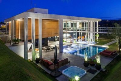 vue panoramique terrasse - Botucatu-House par FGMF Arquitetos - Botucatu, Brésil