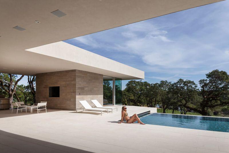façade terrasse & piscine - Vineyards-Residence par Swatt Miers Architects - Californie, USA
