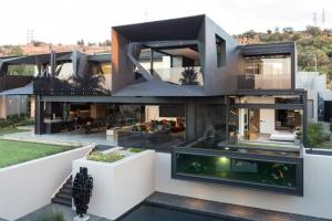 Sculpturale Maison Contemporaine Aux Formes Atypiques En Afrique Du Sud