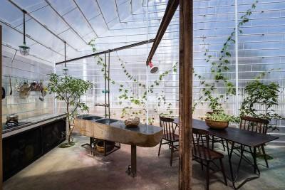 séjour & cuisine - FA-house par Atelier Tho-A - Da Lat, Vietnam