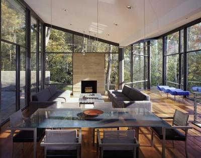 séjour & salon - Hargrave-Residence par Robert M. Gurney Architect - Maryland, Etats-Unis