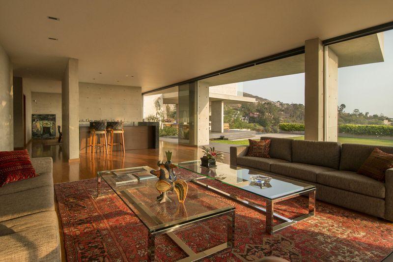 salon - House-Hillside par Benavides & Watmough arquitectos - Santiago, Pérou