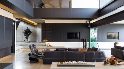 salon - Kloof-Road-House par Nico van der Meulen Architects - Johannesburg, Afrique du Sud