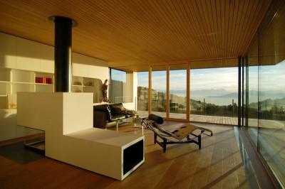 salon & cheminée design - house-dornbirn par KM Architektur en Suisse