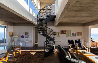 salon & séjour - Mirador House par Gubbins Arquitectos - Tunquen, Chili