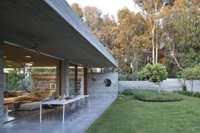 salon terrasse design - House-for-Architect par Pitsou Kedem Architects - Ramat Hasharon, Israël - Copie