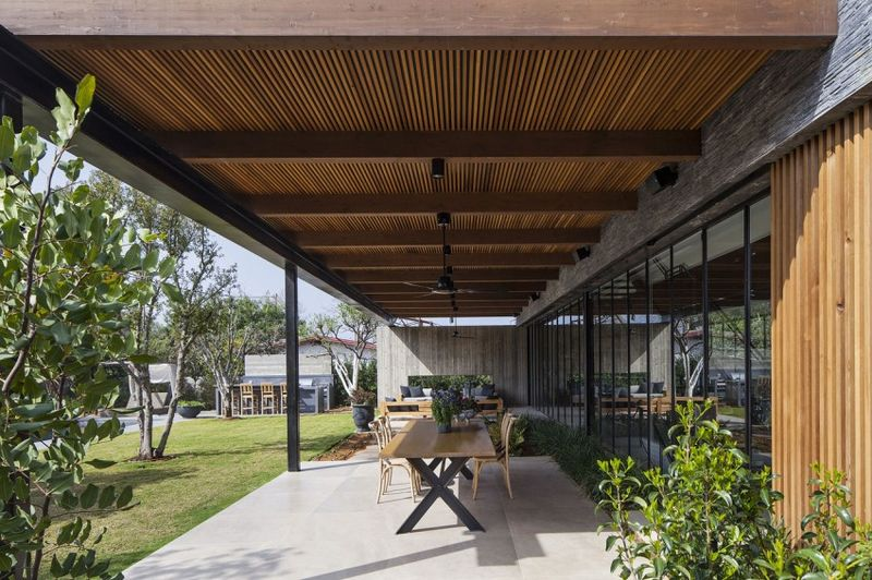 salon terrasse design - NS-Residence par Blatman Cohen Architects - Netanya, Israël