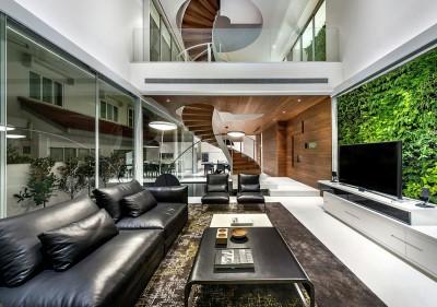vaste salon design - Greja-House par Park+Associates - Singapour