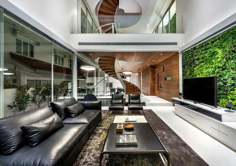 vaste salon design - Greja-House par Park+Associates - Singapour