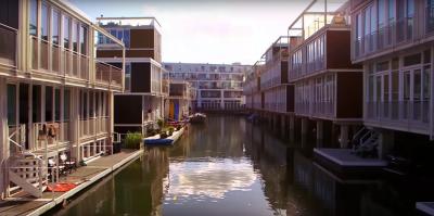 Les villes flottantes aux Pays-Bas