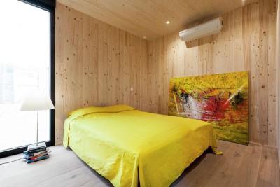 chambre & baie vitrée - Zero-Energy par Skilpod - Belgique