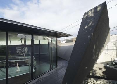 façade terrasse & entrée - SRK par Artechnic - Meguro, Japon