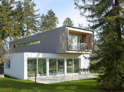 façade jardin & terrasse - Single-family-house par Christian von Düring architecte, Suisse
