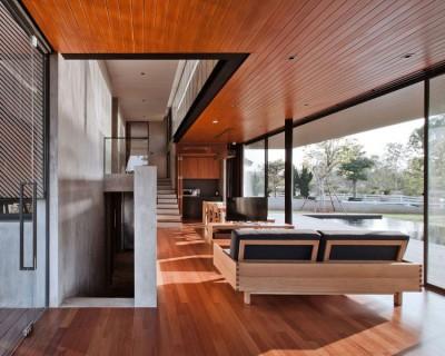 pièce de vie - KA-House par IDIN Architects - Pak Chong, Thaïlande