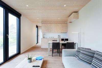 pièce de vie - Zero-Energy par Skilpod - Belgique