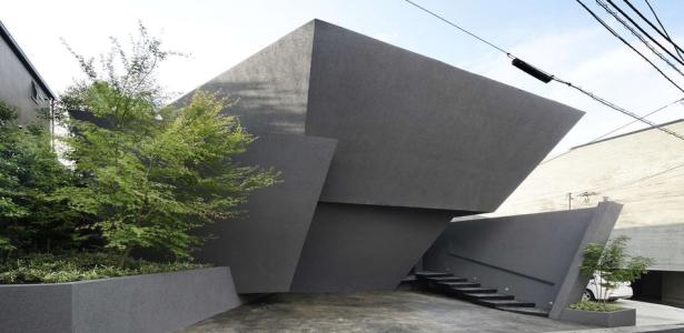 maison urbaine contemporaine l architecture atypique en b ton au japon construire tendance. Black Bedroom Furniture Sets. Home Design Ideas