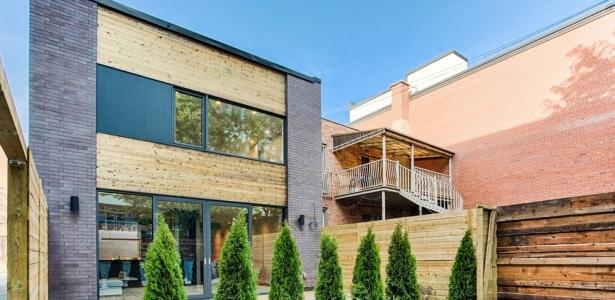Une touche de modernit pour une maison urbaine qu b coise for Architecture quebecoise