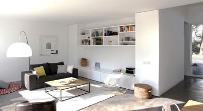 salon & bibliothèque - Single-family-house par Christian von Düring architecte, Suisse
