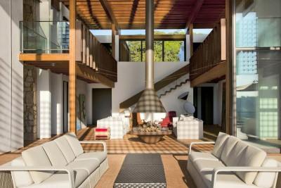 salon double - Quinta-House par CANDIDA TABET ARQUITETURA - São Paulo, Brésil